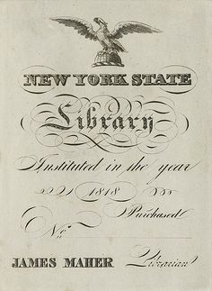 [Bookplate of the New York State Library]
