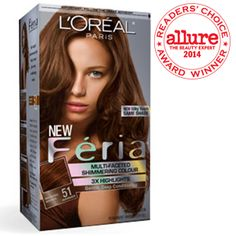 L'Oreal Paris Feria Multi-Faceted Shimmering Colour Highlights, Level 3 Permanent, Light Brown/Natural 60 (Pack of * See this great product. (This is an affiliate link and I receive a commission for the sales) Auburn Hair Dye, Dye My Hair, Hair A, Box Hair Dye, Long Hair, Curly Hair, Blue Black Hair Color, Bold Hair Color, Hair Colors
