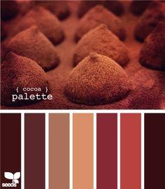Deep chocolate palette