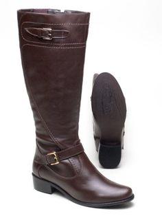 Compra Segura Calçados Femininos Bota Couro Usaflex Cano