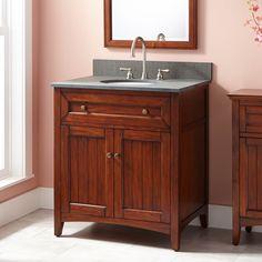 """30"""" Halifax Vanity for Undermount Sink - Antique Cherry"""