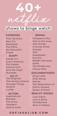 40 Netflix shows to binge watch right now With everything that has been going on during the past couple weeks, these times are very confusing