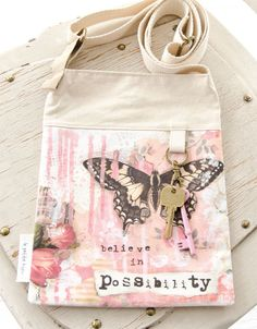 This bag by Toni Burt uses digitally printed fabric of her artwork to create a masterpiece you can carry with you. | Haute Handbags
