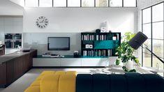 Living LiberaMente  LiberaMente è un progetto flessibile per la razionalizzazione della cucina e la sua integrazione architettonica con il resto della casa; include perciò anche composizioni living che con la cucina vera e propria hanno in comune segni, finiture e colori. -