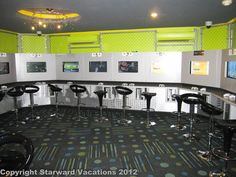 This is the X-Box game station at Beaches Negril