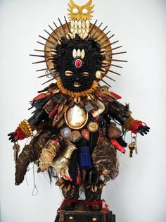 """We put no margins on what can and can't be a blessing,"" says Vanessa German, a visual and performance artist living and working in Homewood, PA. Art Brut, Voodoo Dolls, Assemblage Art, Chiffon, Outsider Art, Figurative Art, Altered Art, Fiber Art, Art Dolls"