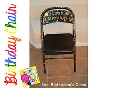 Birthday chair