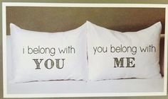 Novelty Pillowcase Set Great for Bridal Showers! We Belong to Each Other! #WordForWord #Novelty