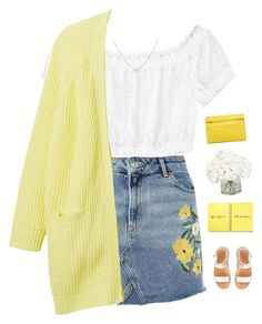 """""""Sunshine"""" by genesis129 ❤ liked on Polyvore featuring Topshop, H&M, Monki, n.d.c., Ethan Allen, Marie Turnor and vintage"""