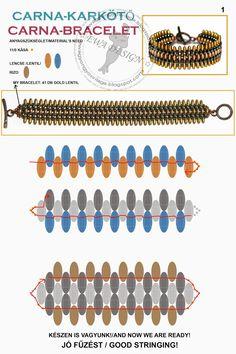 * Ewa gyöngyös világa!: Carna karkötő minta / Carna pendant pattern