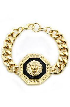 ROIAL Lion Octagon Bracelet