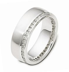 Gents Dora Diamonds set Wedding Ring - available in Yellow White or Rose Golds - C2194