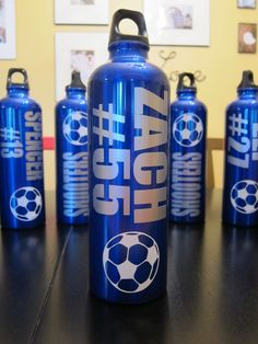 Personalized Team Sports Soccer Water Bottle by MakinItSassy, $8.00