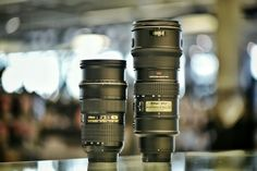 If there are only two lenses in your camera bag, these would be the two to have. Nikon 24-70 and 70-200, both f/2.8! #camera #camerastore #austin #atx #canon #nikon #dslr #digital #slr #bokeh