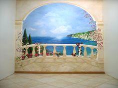 Oeil Trompe Wall Mural   Trompe Loeil curtains wall murals