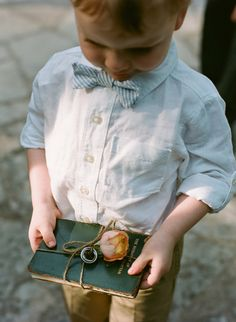 Handsome little outfit and a great way to carry the rings.