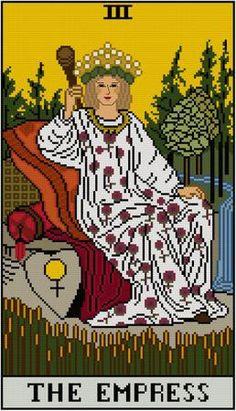 The Empress Tarot card cross stitch pattern PDF Major by Whoopicat