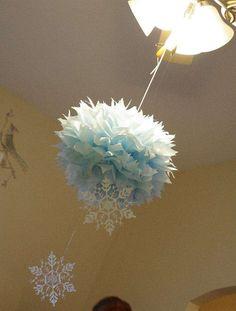 Winter wonderland owl Birthday Party Ideas | Photo 7 of 39 | Catch My Party adorno techo