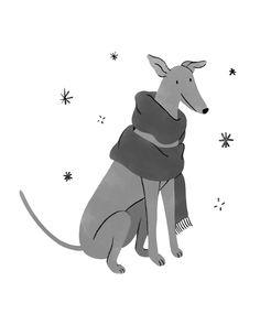 Kaila Elders – Illustration Greyhound Art, Greyhound Rescue, Christmas Dog, Christmas Design, Dog Background, Dog Illustration, Dog Pattern, Cute Dogs And Puppies, Greyhounds