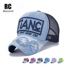 Rancyword  New Branded Snapback Baseball Caps Women Men Summer Embroidery  Letter TIANC Cap Hat 6d1b5b4a1845