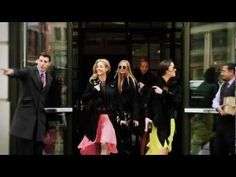 If you want to see how to ride out the winter in style, check out this video of Claire, Jenna, Prisca, and Virginie Courtin-Clarins walking around New York City during Fashion Week in February.