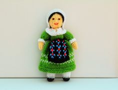 French Folk Knitted Doll - Toy Knitting Pattern by Joanna Marshall, £2.60 GBP