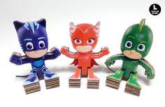 "Amazing cardboard toys ""PJ MASKS"" Disney."