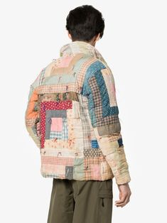 Shop Bode Patchwork quilted cotton workwear jacket from our Down Jackets collection. Quilted Clothes, Sewing Clothes, Work Jackets, Women's Jackets, Textiles, Jacket Pattern, Quilted Jacket, Quilted Coats, Vintage Quilts