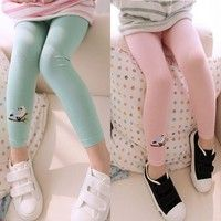 Candy Color Toddler Baby Girls Cotton Warm Leggings Elastic Waist Kid Skinny Pants Trousers 100% Bra