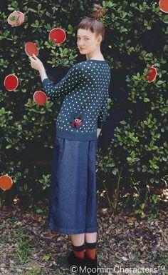 Moomin Sweater!!!  シロップ.|後ろポッケでミイがわーい 水玉カーディガン|フェリシモ