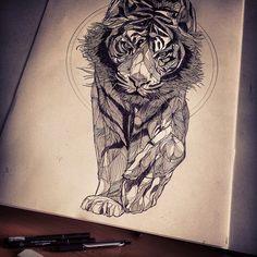 Tiger tattoo idea