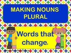 Included in the package is an interactive  Power Point to introduce words that change their spelling when they become plural as well as words that don't change at all.  Words cards are included that can beused for matching games and extra practice.  There is a word search and an assessment that can be used to check for mastery.