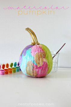 oh the kids are going to love these! {Watercolor Pumpkins}