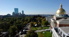 Boston Common and the Massachusetts State House as viewed from 73 Tremont.