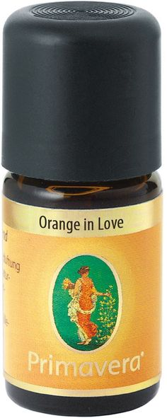 Primavera Orange In Love Essential Oil Blend The fruity scent of orange, vanilla extract and Rose lifts the mood. | FRAGRANCE PROFILE: fruity | SCENT EFFECT: exhilarating | A fruity and alluring scent that harmonises and inspires using Orange, Vanilla Extract and Rose. Especially recommended for relaxation, bedrooms and sensual moments. Vegan.