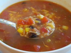 Anything Goes Tortilla Soup - I think I will try this minus the beans and add some chicken! I can double the batch and freeze the extra!