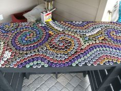 Image of: Bottle Cap Table Designs Tuesday