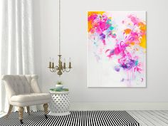 Abstract painting by Svetlansa #svetlansa #homedecor #largepainting #largeart #abstractpainting #pinkart #pinkpainting #wallart #artwork #white #violet