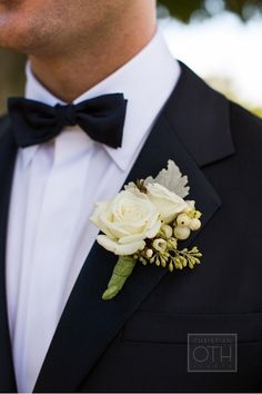 White Rose Boutonniere | Event Planning, Design and Floral Production: www.tracytaylorward.com | Photography: http://www.christianothstudio.com | Wedding Venue: Blue Hill at Stone Barns