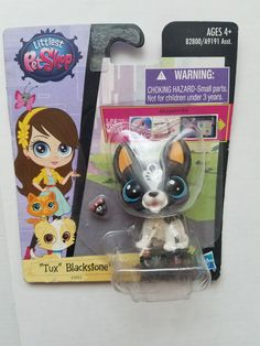 Littlest pet shop rare frenchie and suit