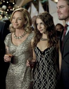 """Thea Queen is spotted wearing the Black and White Lace Floral Dress on Season 1, Episode 9 """"Year's End"""" on """"Arrow"""""""