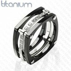 Szögletes titanium gyűrű , Titanium ring