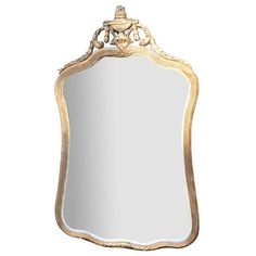 Antique French Gilt Gesso Mirror ($175) ❤ liked on Polyvore featuring home, home decor, mirrors, mirror and gilt mirror