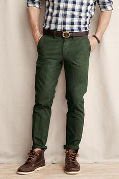 Green pants with brown accents #mensfashion