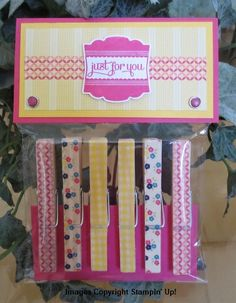 SNEAK PEEK - WASHI TAPE CLOTHES PINS