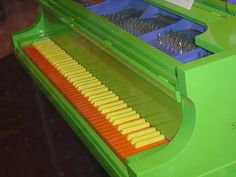 #colorful #piano #green #orange #yellow and #blue !!!