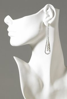 Jewelry - Long Rhinestone Tear Drop Earring from Camille La Vie and Group USA