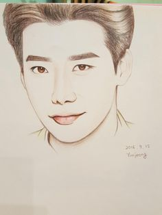 Jung Suk, Lee Jong Suk, Cool Art Drawings, Art Sketches, Second World, Disney Quotes, Manga Drawing, Ulzzang Girl, Line Art