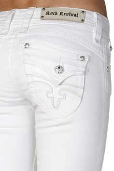 Love these!  wish i could find somethink like this in khaki. Could get away with wearing white.  Rock Revival - Heather Straight Leg Jean, $158.00 (http://www.rockrevival.com/women/heather-straight-leg-jean/rj8147t26-heather-t26/)