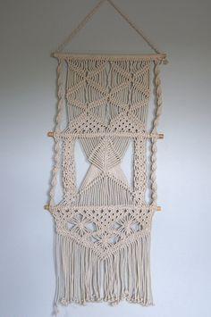 Large Fiber Textile Art Wall Hanging. $135.00, via Etsy.